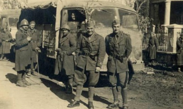 Italian soldiers entering Ohrid April 1941