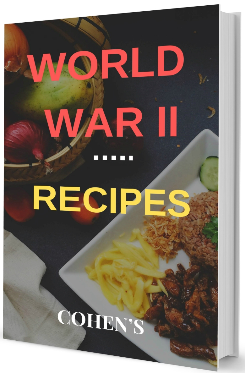 WWII recipe book cover mock up